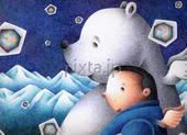 白熊・シロクマ・北極熊・北極グマ・氷山・氷・雪・雪山