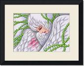 鳥・白鳥・女性・鳥人・植物・蔓・蔦・棘・罠