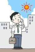 真夏日・猛暑・酷暑・汗・炎天下・熱中症・直射日光