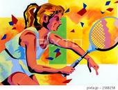 スポーツ - テニスプレーヤー・テニス