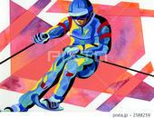 スポーツ - スキー・スキーヤー・スキー選手