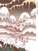 2DCG・ポップ系 - 雪国・雪景色・冬景色・雪道