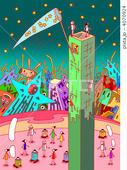 星・モニュメント・タワー・ドーム