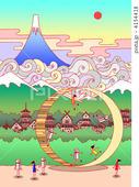 2DCG・ポップ系 - 富士山・古都・輪・リング・雲海