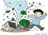 災害・事故のイラスト - 竜巻・強風・暴風・ハリケーン