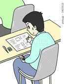 社会問題のイラスト - カンニング・不正受験・不正入試・不正行為