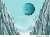 宇宙のイラスト - 惑星・衛星・準惑星・氷山・極寒