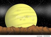 惑星・衛星・山脈・星・星空