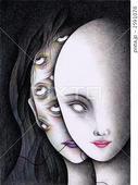 目・眼・視線・マスク・仮面・人面