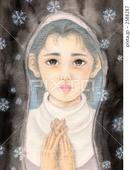 祈り・願い・雪・雪の結晶・眼差し