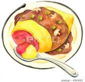 オムライス・デミグラスソース・洋食
