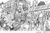 ビール祭り・バイエルン・ドイツ・馬車・民族衣装
