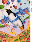 ペンギン・飛行機・グライダー・気球・大空