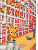 キリン・ネズミ・配管・パイプ・メンテナンス