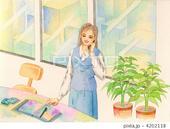 オフィス・観葉植物・ワークデスク・ワークチェア