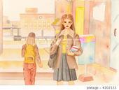 大学生・女子学生・学生街・喫茶店・店舗・校舎