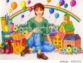 玩具・模型・ミニチュアハウス・ドールハウス・花・風船・虹