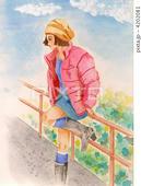 ブルゾン・ジャンパー・ブーツ・ミニスカート・カジュアルファッション