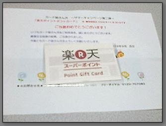 ポイントギフトカード(500ポイント)