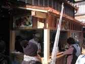 牛串の屋台