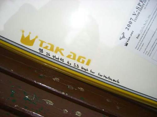 カスタムTAKAGI サイン