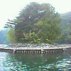画像:中禅寺湖上野島