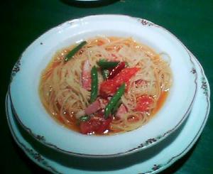 画像:トマトスープのスパゲッティ