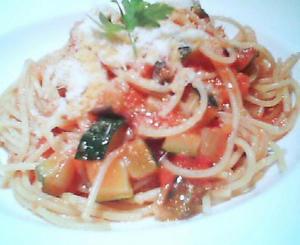 画像:冬瓜のトマトソース パスタ