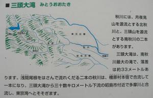 画像:三頭大滝案内板