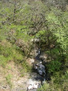 画像:三頭大滝の下流