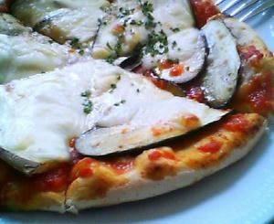 画像:ナスのピザ