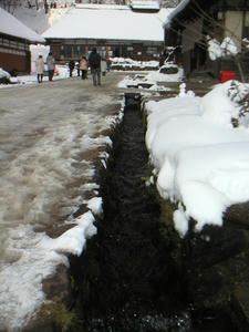 画像:大内宿 用水路