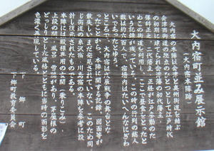 画像:大内宿町並み展示館 案内板