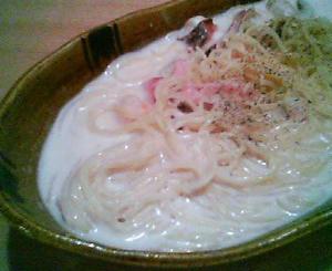 画像:キノコ シーフードのクリームパスタ