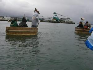 画像:小木のたらい舟