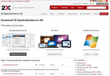 2X ApplicationServer XG Downloadlink