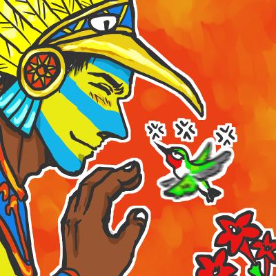ハチドリと太陽神