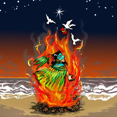 ケツァル王の火葬