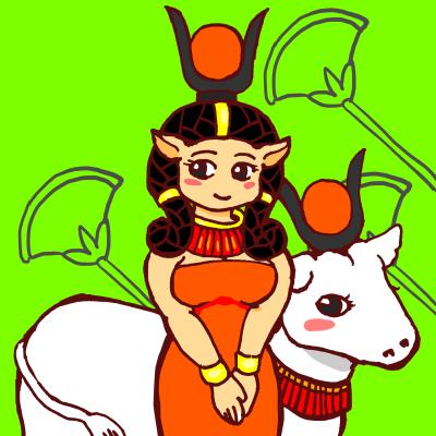 牛の女神ハトホル