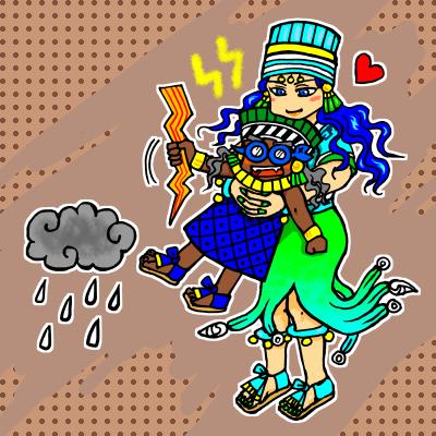 雨の神&水の女神夫妻