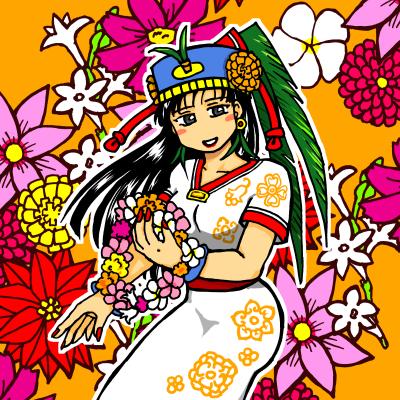 メキシコの花女神
