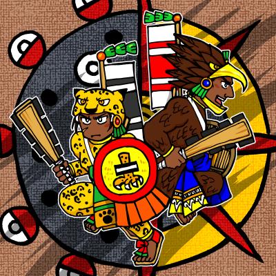 ワシとジャガーの戦士