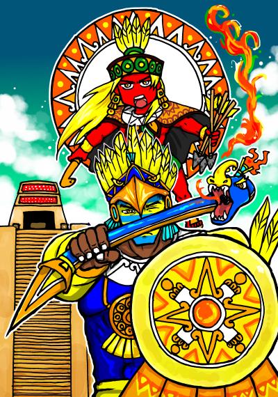 太陽神二柱