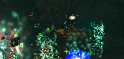 対ワニ水中戦:飛竜の谷・水中洞窟