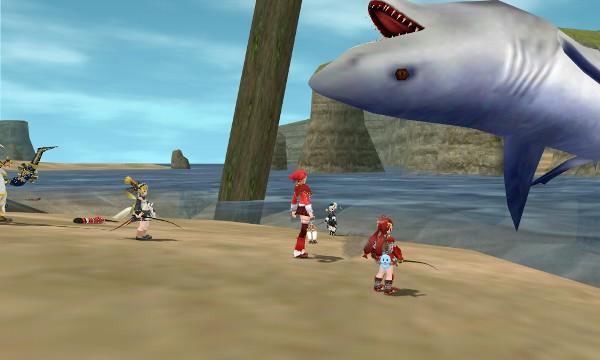 つり上げられたサメ:ミーリム海岸