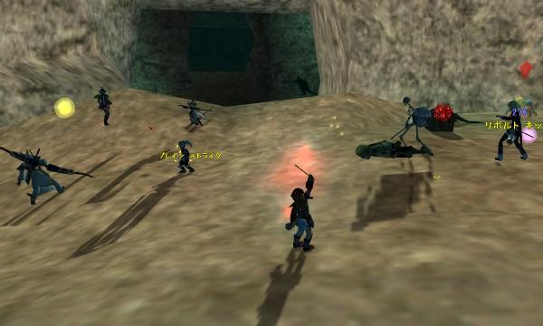 弓師・キッカー達のガーディアン戦:スルト鉱山