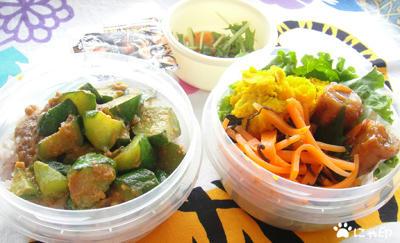 今日のMy弁当「きゅうりの味噌カレー丼」