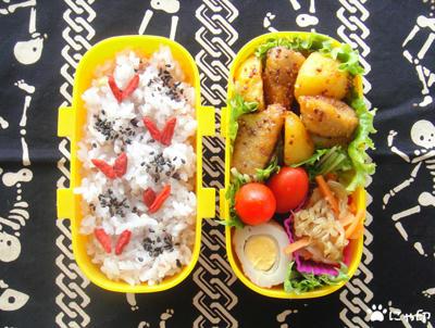 今日のMy弁当「海老とポテトの粒マスタード炒め」