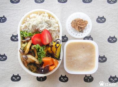 今日のMy弁当「ゴーヤと豆腐のみそ炒め」