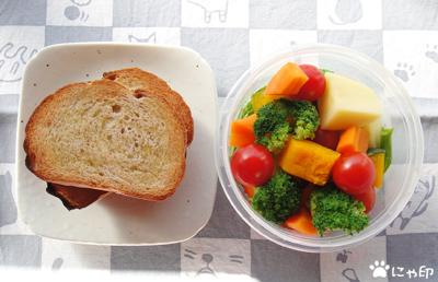 今日のMy弁当「温野菜サラダ、どーん(* ̄ー ̄*)」